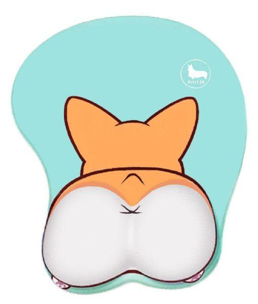 3D Funny Corgi Butt Shape Silicone Mouse Pad Mouse Mat