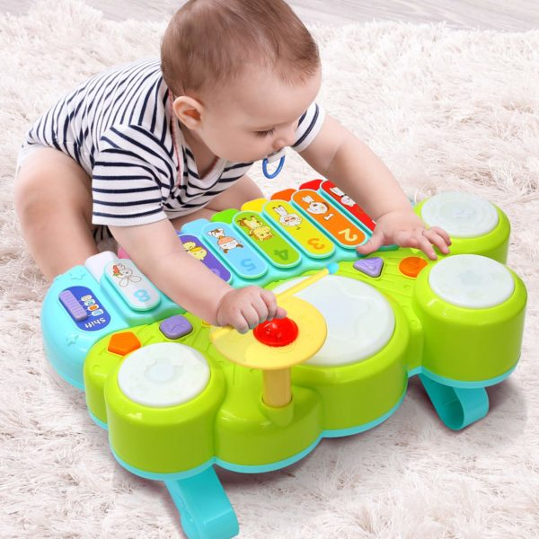 Kids Drum Set, Discover & Play Piano Keyboard