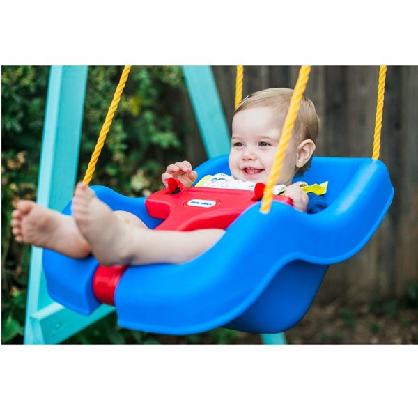 Little Tikes 2 -in-1 Snug 'n Secure Grow With Me Swing - Blue