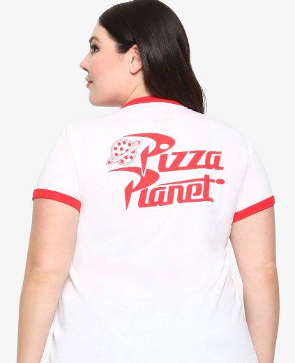 TOY STORY PIZZA PLANET GIRLS RINGER T-SHIRT PLUS SIZE