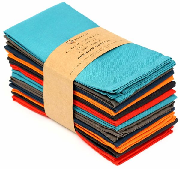 Ruvanti Multi Color Cloth Napkins 12 Pack