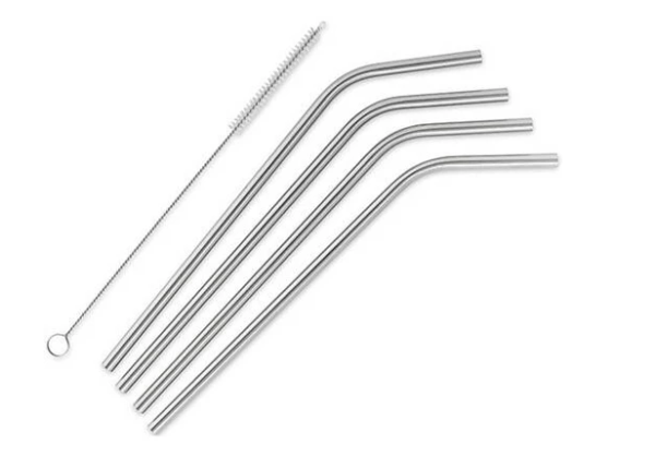 Simple Modern 4pk Reusable Straws Stainless Steel