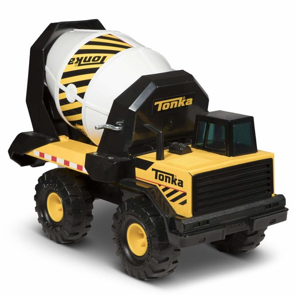 Tonka Steel Cement Mixer Vehicle, Yellow, Black, White
