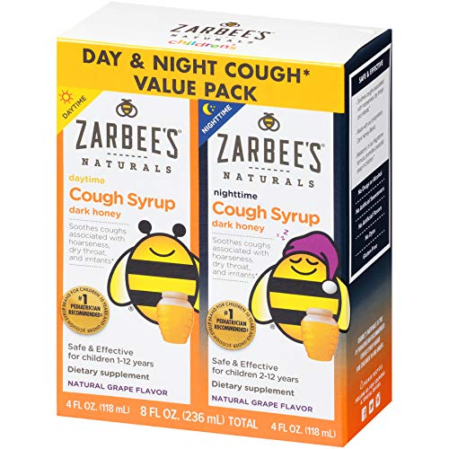 Zarbee's Naturals Children's Cough Syrup with Honey Daytime & Nighttime