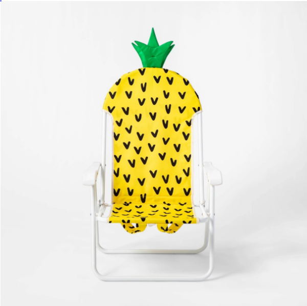Pineapple Backpack Portable Chair Yellow