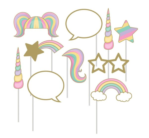 10ct Creative Converting Sparkle Unicorn Photo Booth Props