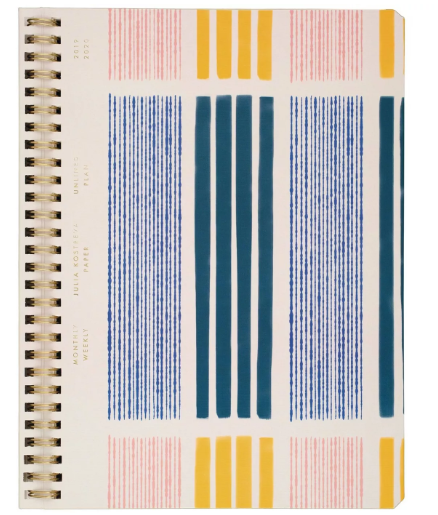 "2019-2020 Beach Academic Planner 7.75""x 9.5"" Cream/Blue - Julia Kostreva"