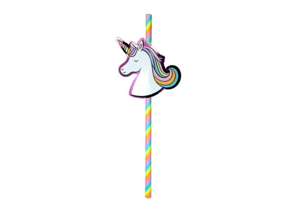 20ct Unicorn Paper Straws - Spritz™