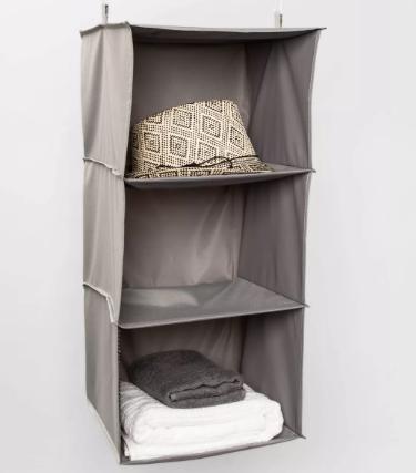 3-Shelf Hanging Closet Organizer Gray - Room Essentials™