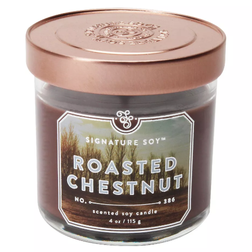 4oz Small Jar Candle Roasted Chestnut - Signature Soy