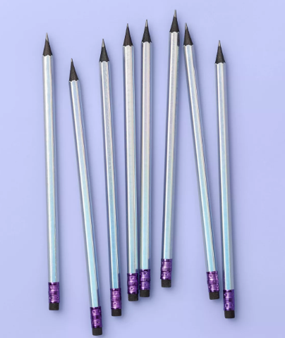 8ct Iridescent Sharpened #2 Pencils with Black Core - More Than Magic™
