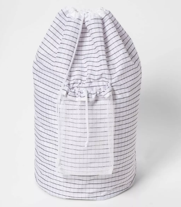 Backpack Laundry Bag - Grid Pattern White - - Room Essentials™