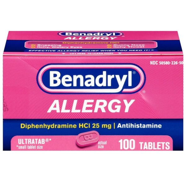 Benadryl Ultratabs Antihistamine Allergy Relief