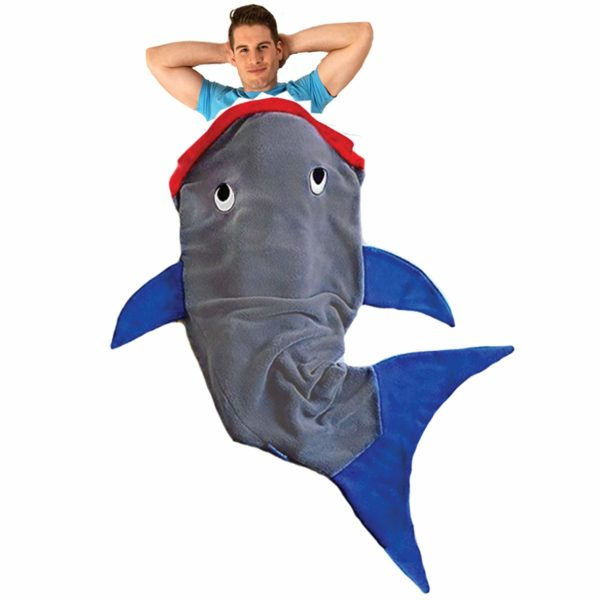 Blankie Tails Shark Blanket for Adults & Teens