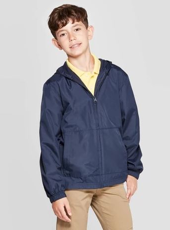 Boys' Uniform Windbreaker Jacket - Cat & Jack™ Navy