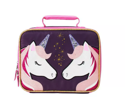 Double Unicorn Lunch Bag - Black/White