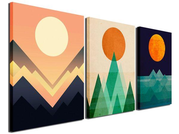 Gardenia Art - Abstract Sunrise and Sunset Canvas Prints