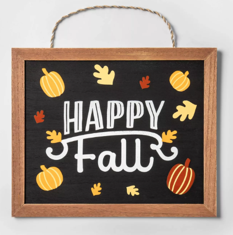 Happy Fall Hanging Wood Sign - Spritz™