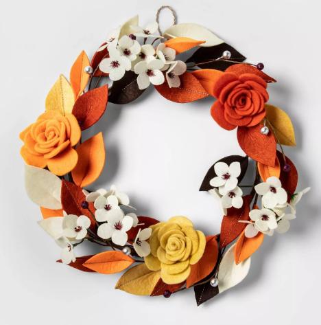Harvest Felt Floral Wreath - Spritz™