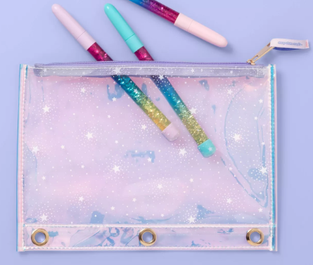 Iridescent Stars 3 Ring Binder Pencil Pouch - More Than Magic™