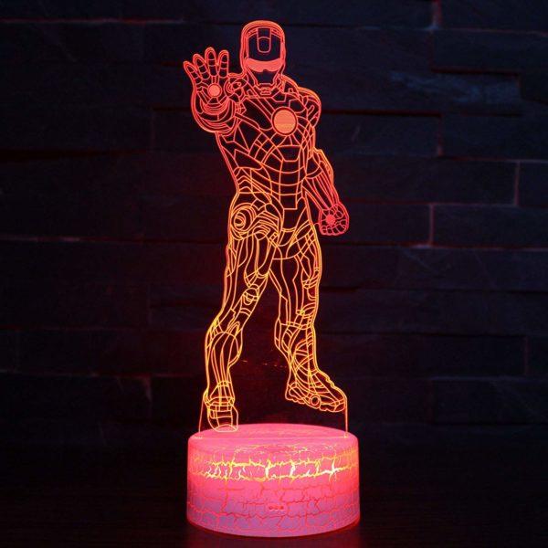 LED Superhero 3D Optical Illusion Smart 7 Colors Night Light