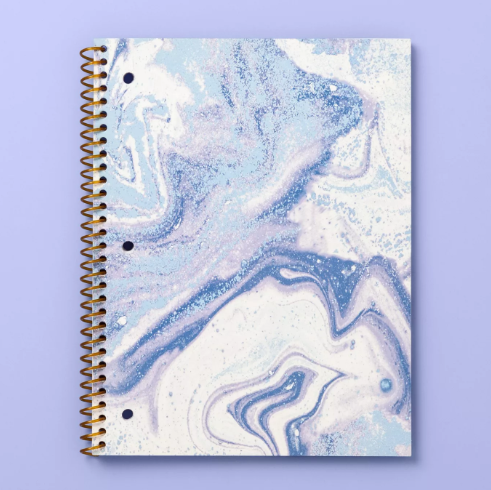 "10"" x 8"" Marble Print Wide Ruled Spiral Subject Notebook - More Than Magic™"