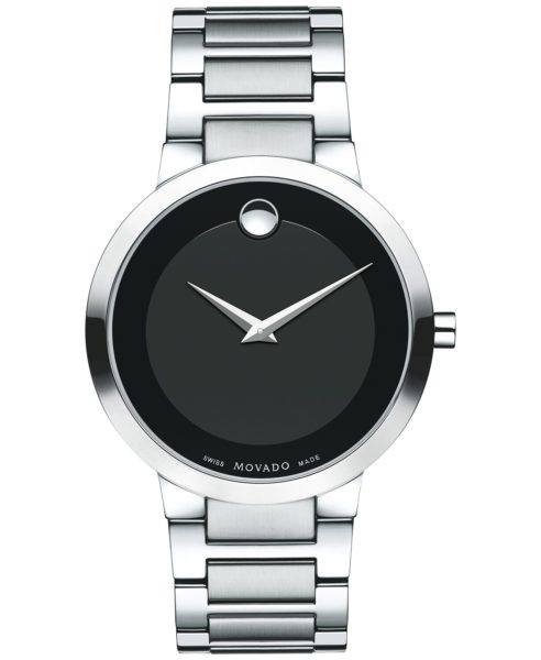 Men's Swiss Modern Classic Stainless Steel Bracelet Watch 39mm
