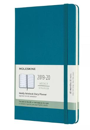 "Moleskine 2019-2020 Planner 5""x 8"" Green"