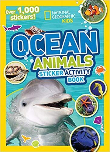 National Geographic Kids Ocean Animals Sticker Activity Book