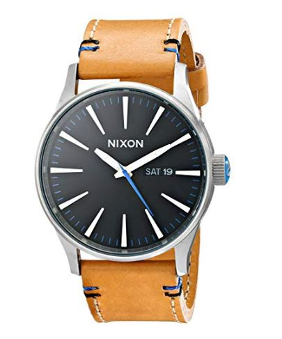Nixon Sentry Leather Classic Men's Watch