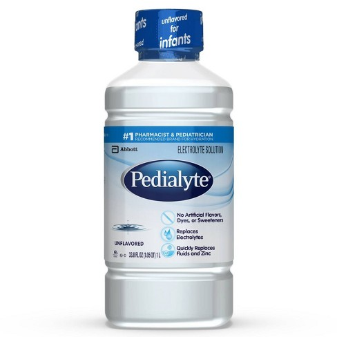 Pedialyte Oral Electrolyte Solution - Unflavored 1L
