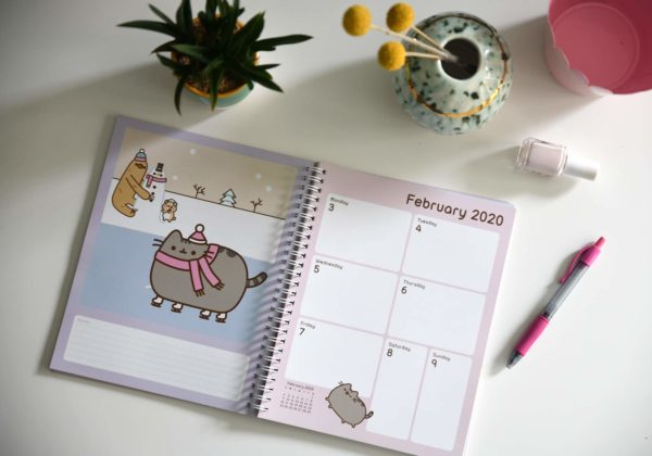Pusheen 2019-2020 Weekly/Monthly Planner Calendar