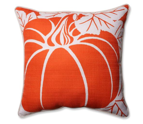 Pillow Perfect Pumpkin Corded Throw Pillow - Orange