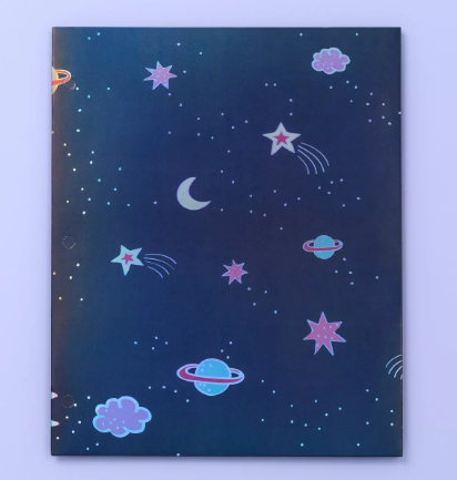 Space 2 Pocket Paper Folder - More Than Magic™ - Navy Blue