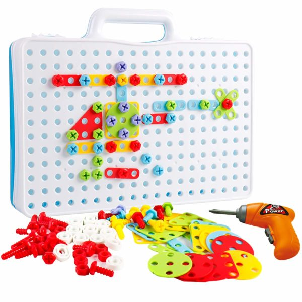 YIER Design & Drill Kids STEM Educational Toys Tool Box Set