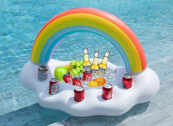 Jasonwell Inflatable Rainbow Cloud Drink Holder