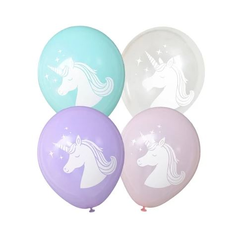 "12"" 12ct Printed Unicorn Latex Balloons - Spritz™"