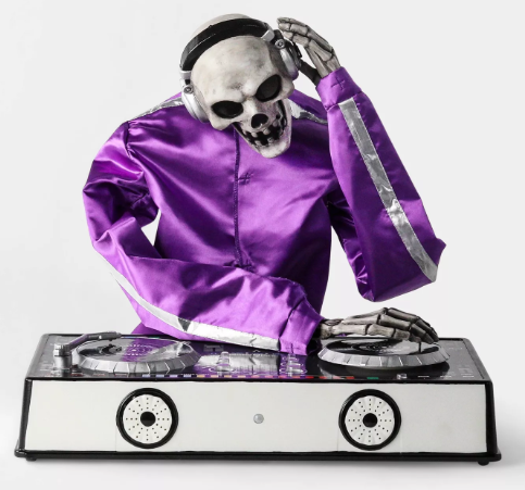 Animated DJ Skeleton Decorative Halloween Prop - Hyde & EEK! Boutique™