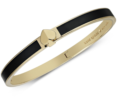 kate spade new york Gold-Tone & Colored Enamel Spade Bangle