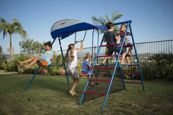 Ironkids Challenge 100 Metal Swing Set with Ladder