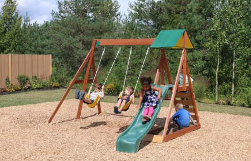 KidKraft Sunview II Wooden Swing Set/Playset