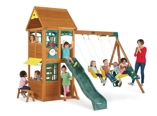 KidKraft Brooksville Wooden Swing Set