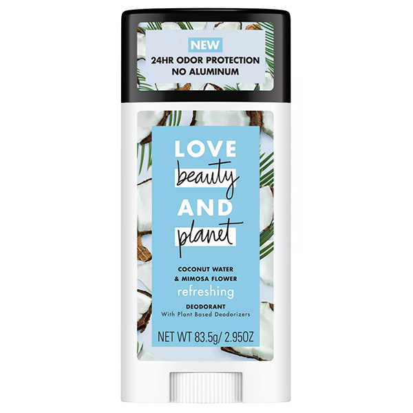 Love Beauty Planet Refreshing Coconut Water Deodorant - 2.95oz