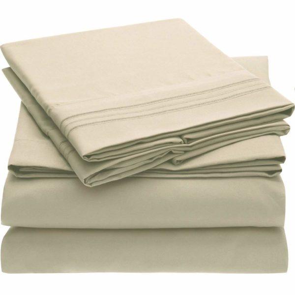 Mellanni Bed Sheet Set - Queen Brushed Microfiber