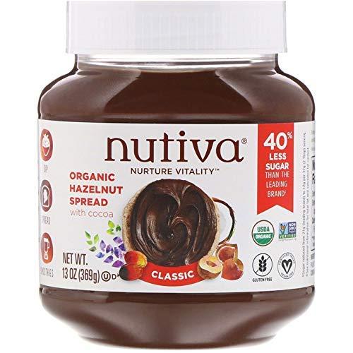Nutiva Certified Organic, non-GMO, Vegan Hazelnut Spread