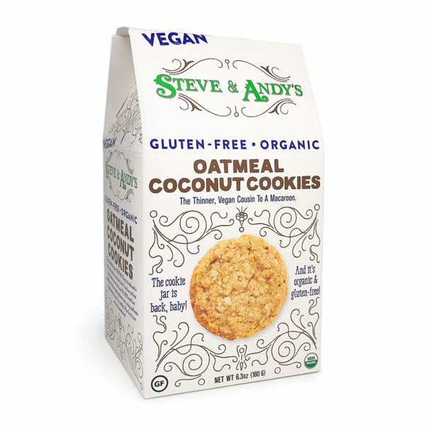 Steven and Andys Organic Vegan Oatmeal Coconut Cookies