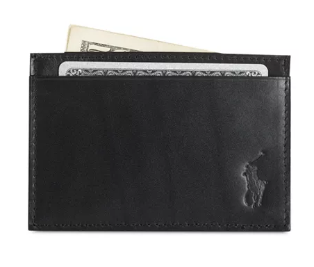 Polo Ralph Lauren Burnished Leather Slim Card Case