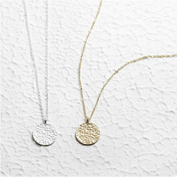 Fettero Moon Necklace, 14k Gold Plated