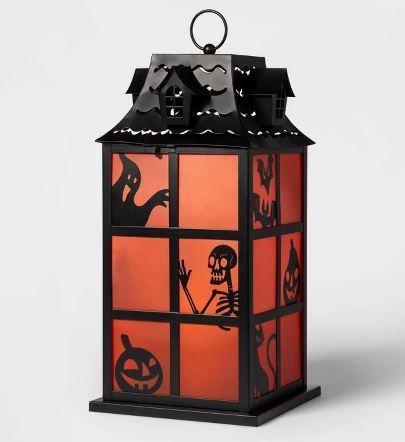 Ghost/Skeleton/Pumpkin Silhouette Metal Lantern Halloween Decoration - Hyde & EEK! Boutique™