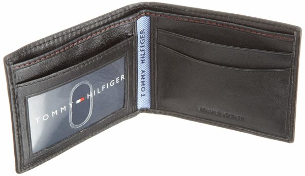 Tommy Hilfiger Men's Leather Slim Billfold Wallet